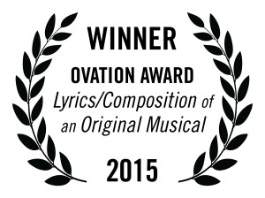 award-laurels-lyrics-composition-of-an-original-musical-ovation-winner on white